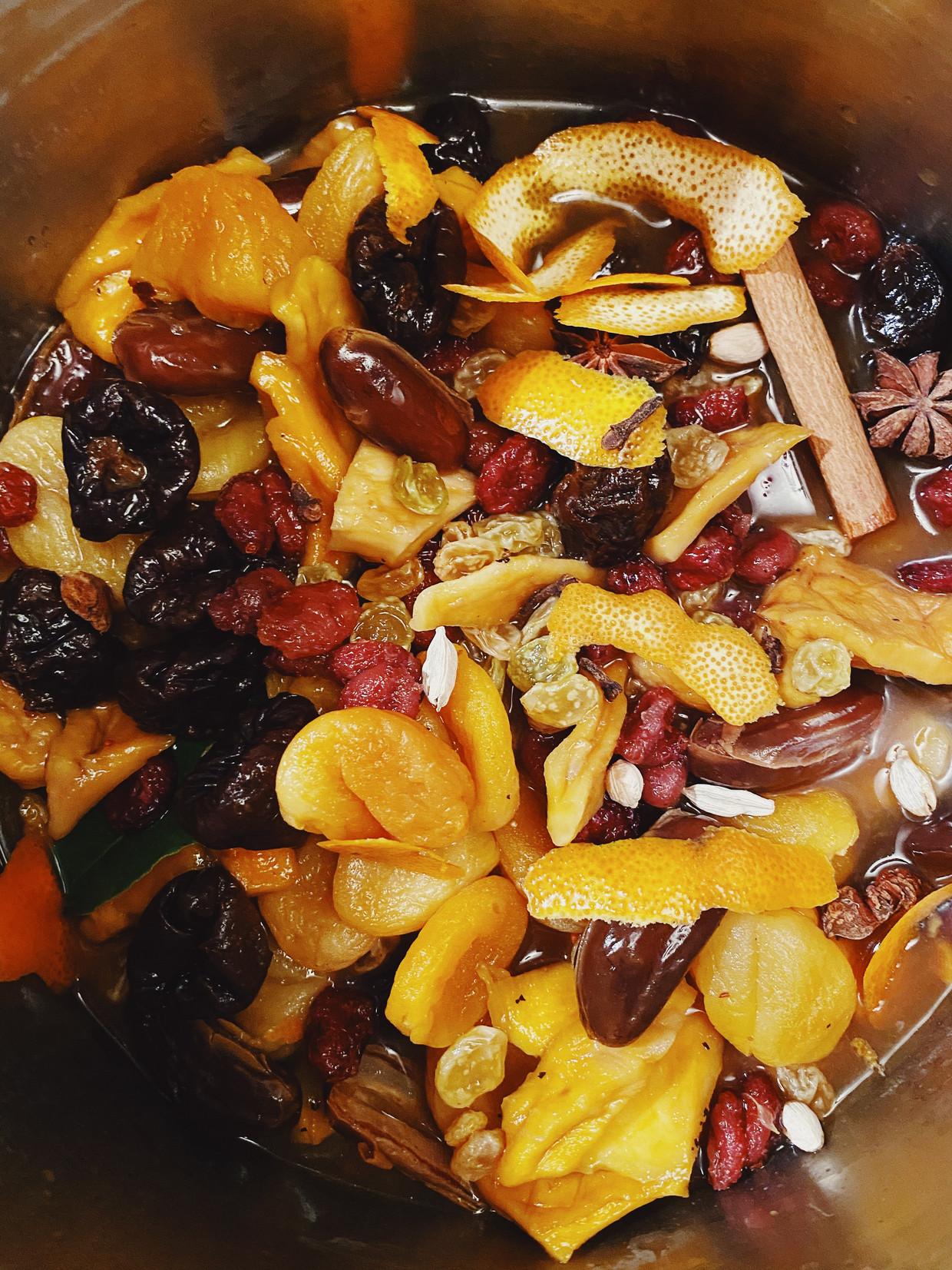Gedroogd fruit wellen.