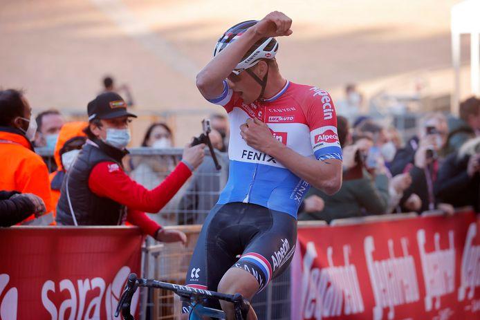 Mathieu van der Poel won eerder dit seizoen de Strade Bianche.