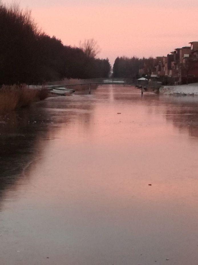 Zonsopkomst in Arnhem-Zuid.