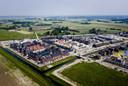 Dronefoto van een nieuwbouwproject in de Amersfoortse wijk Vathorst.