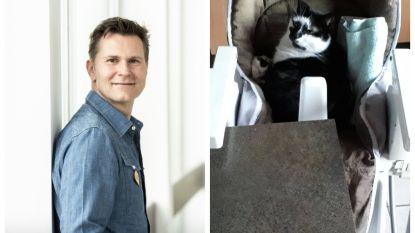 SHOWBITS. Wim De Vilder drinkt blauwe cola en van wie is deze kat?
