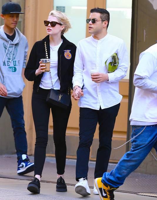 Rami Malek et sa compagne Lucy Boynton, à New York, le 3 juin 2019.