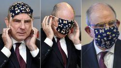 Van Groot-Brittannië tot India: hele wereld lacht met filmpje van Koen Geens die worstelt met mondmasker