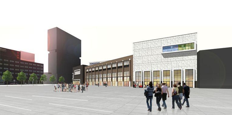 Impressie van de toekomstige megabioscoop in Amsterdam Noord Beeld Euroscoop