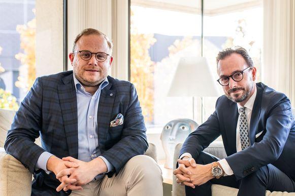 Ruben Lemmens van werkgeversorganisatie VKW Limburg en Bart Lodewyckx van Unizo Limburg.