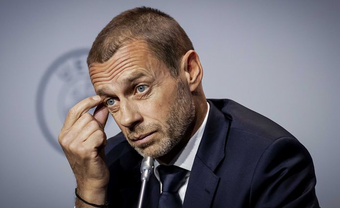 UEFA-baas Aleksandar Ceferin.