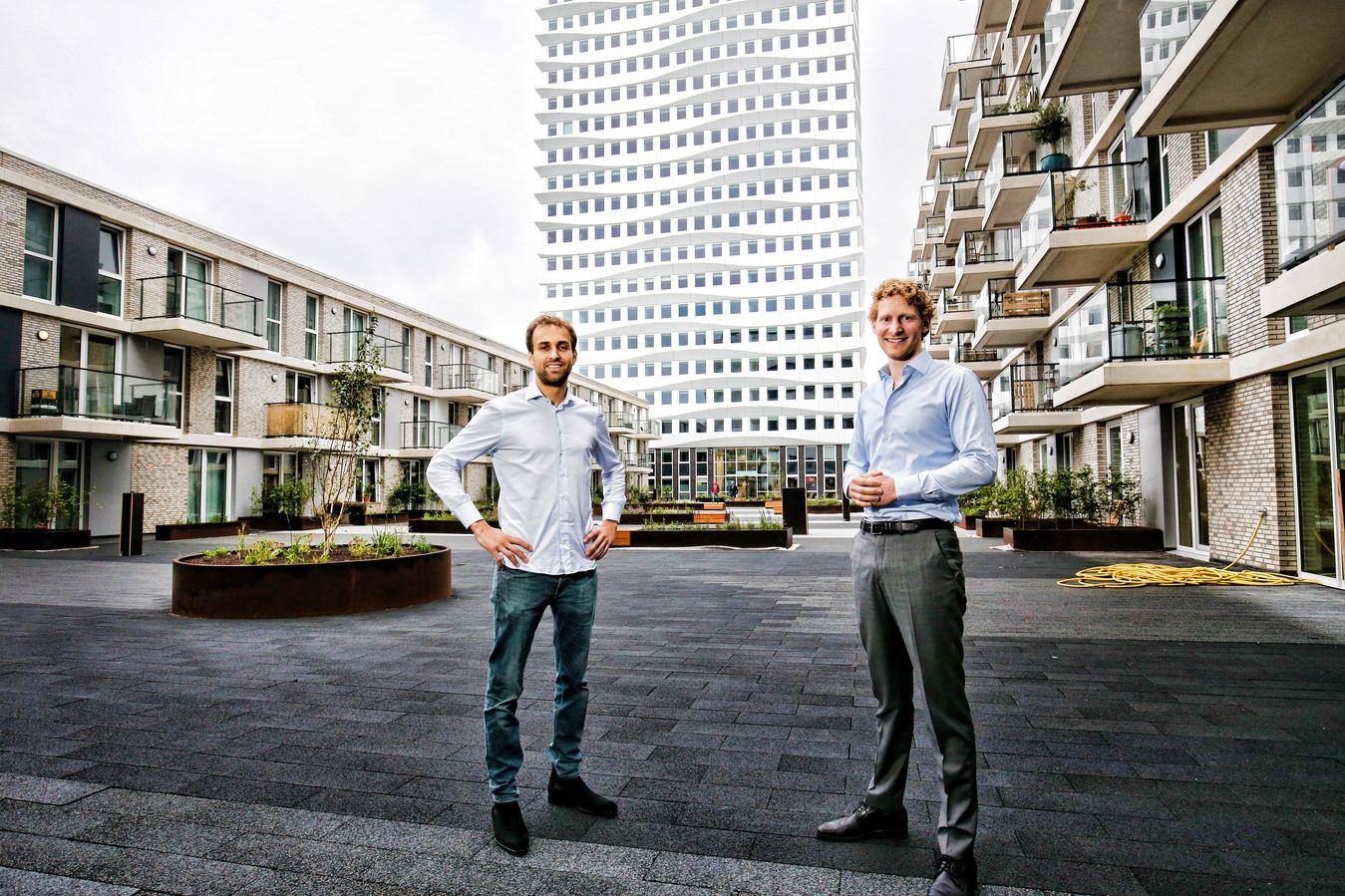 Hedde Reitsma (rechts) en Mats Klein van Orange Capital Partners, op de foto in Utrecht. Archieffoto.