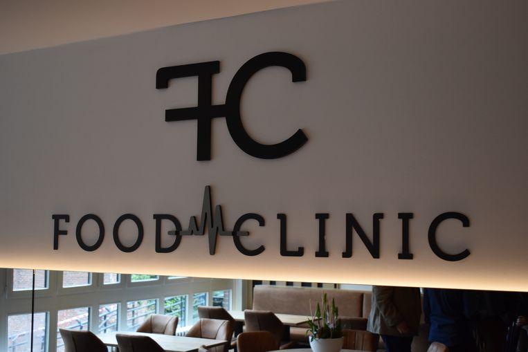 De cafetaria kreeg de toepasselijke naam Food Clinic mee.