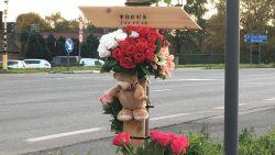 """Kinderen plaatsen kruis op plek waar Truus (73) verongelukte en hebben duidelijke boodschap: """"Stop die gsm weg als je rijdt"""""""