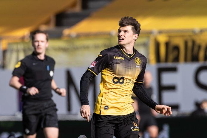 Danny Bakker speelde het laatste half jaar bij Roda JC als linker centrale verdediger.