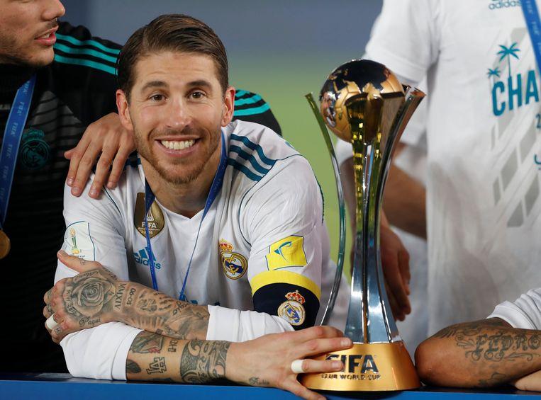 Real-aanvoerder Sergio Ramos met de trofee. Binnenkort ziet de format er helemaal anders uit.