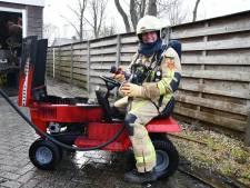 Brandweer in Vroomshoop rukt uit voor mini-tractor