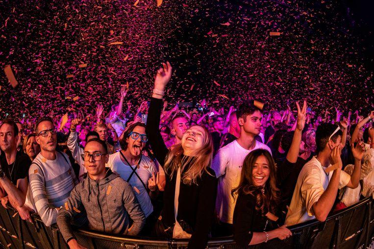 Publiek tijdens het Amsterdam Musical Festival. Beeld ANP