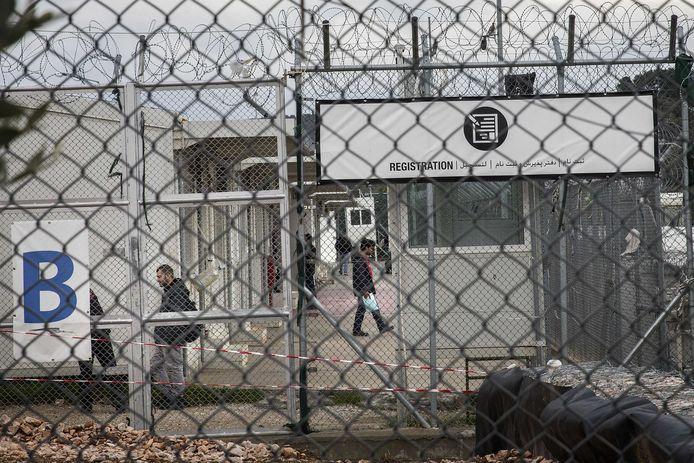 Vluchtelingenkamp Moria op Lesbos, Griekenland.