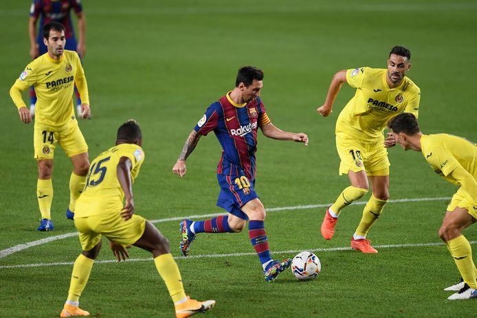 Messi in actie tegen Villarreal.