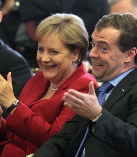 Medvedev et Merkel ont mangé un confrère de Paul le poulpe