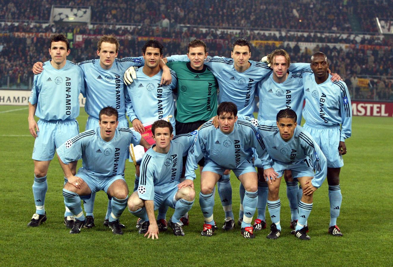 Het elftal van Ajax in 2003.