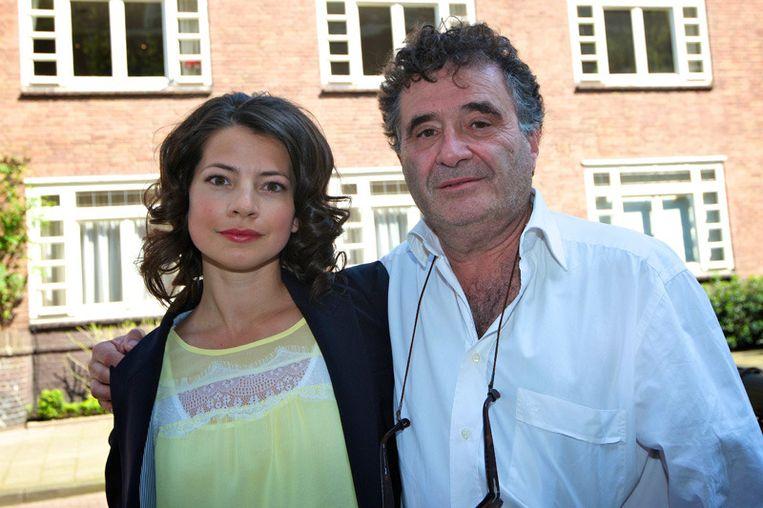 Hoofdrolspeler Nyncke Beekhuyzen en regisseur Rudolf van den Berg Beeld null