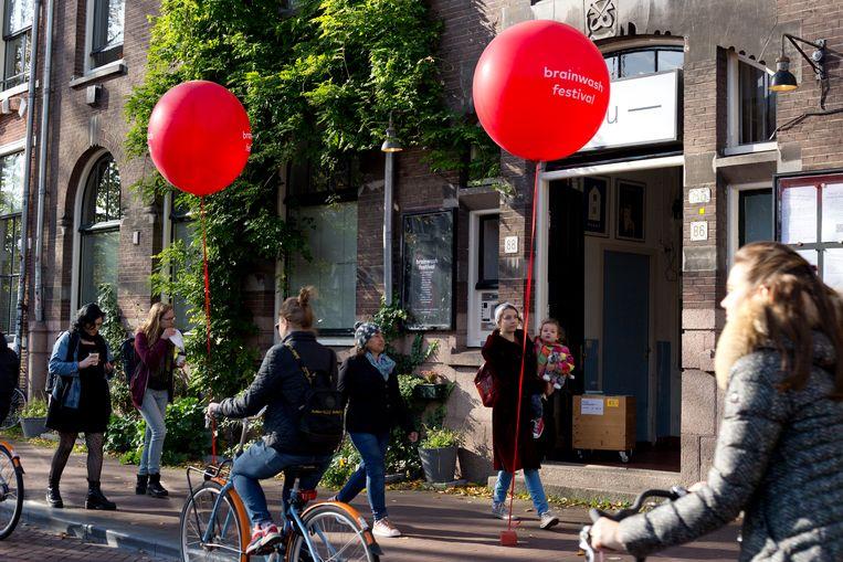 Het Brainwash Festival in Amsterdam in 2019. De 'anderhalvemeterroute' die voor dit jaar gepland stond gaat niet door.   Beeld Lisette Swier