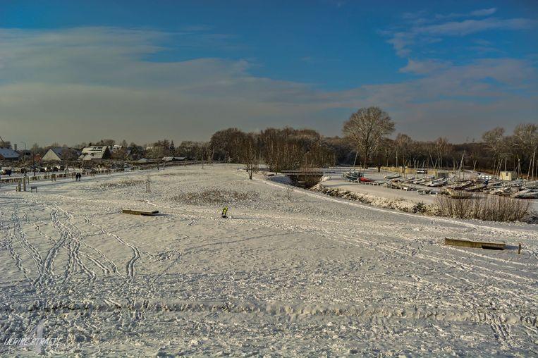 De sneeuw zorgt voor een betoverend landschap in De Gavers