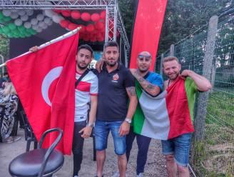 """Turkse en Italiaanse gemeenschap verbroederen bij openingswedstrijd EK: """"Een ander truitje, dezelfde passie"""""""