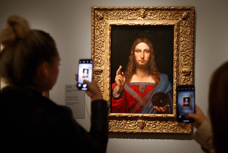 Het omstreden 'Salvator Mundi'-schilderij. Beeld AFP