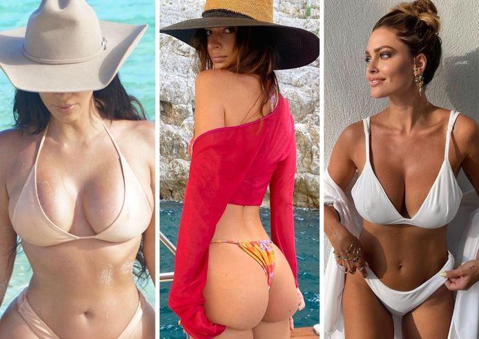 Kim Kardashian, Emily Ratajkowski et Caroline Receveur.