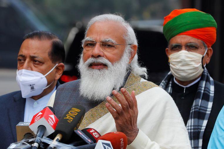 Narendra Modi in New Delhi, 29 januari. Beeld REUTERS