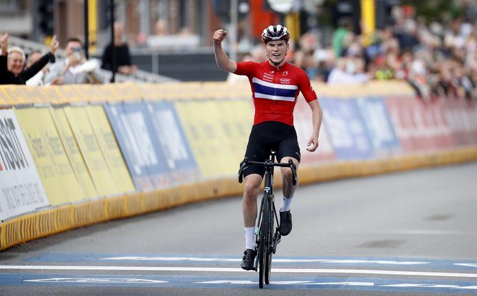 Per Strand Hagenes a dompté le circuit de Louvain pour s'offrir le titre de champion du monde junior.