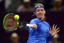 Kiki Bertens verloor bij haar rentree kansloos van Jelena Ostapenko.