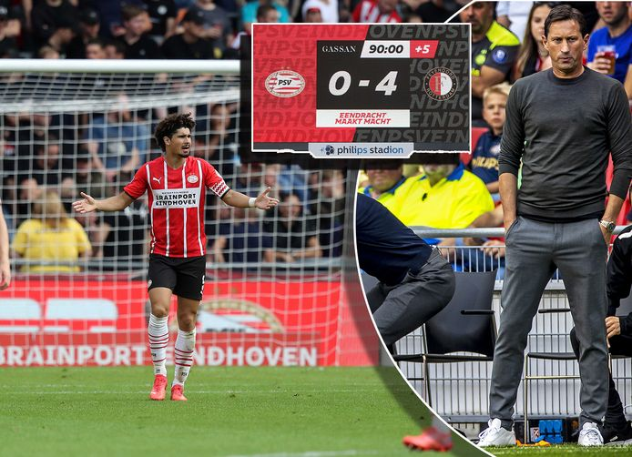 PSV kreeg een pak slaag van Feyenoord.