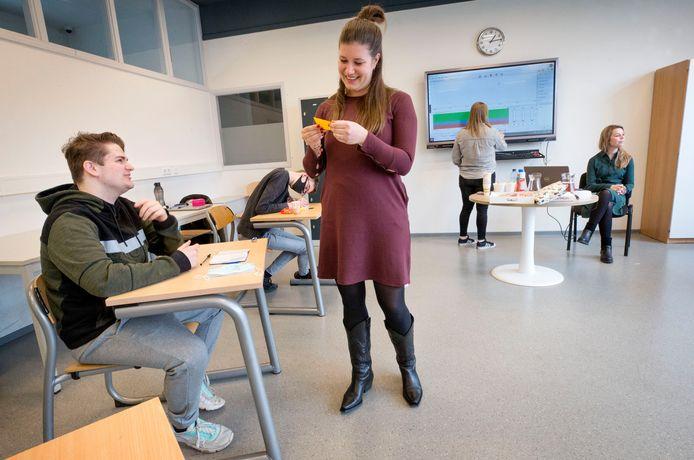 Raoul in de speciale training die het Brederocollege heeft opgezet voor examenstudenten voor faalangst/stressreductie.