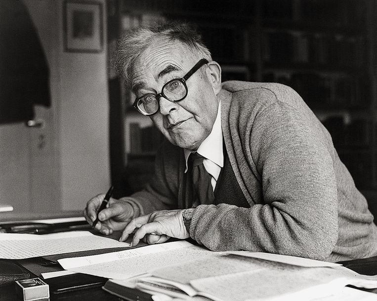 Karl Barth in 1956. Beeld Getty Images