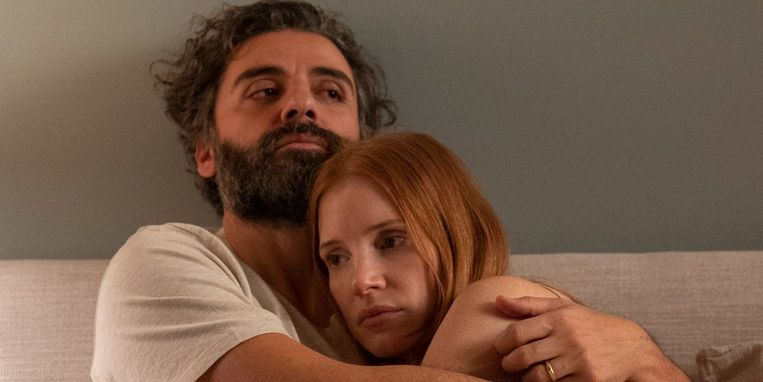 Oscar Isaac en Jessica Chastain in 'Scenes from a Marriage'. Beeld HBO