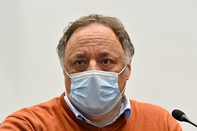 Viroloog Marc Van Ranst. Beeld BELGA