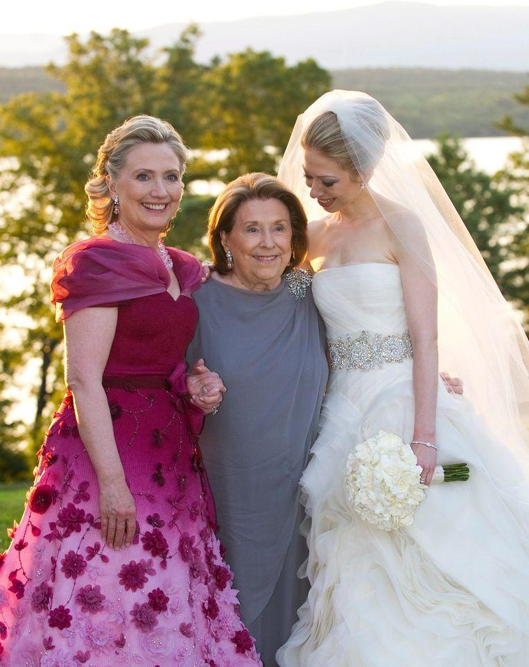 Hillary Clinton, Dorothy Rodham en Chelsea Clinton. Beeld EPA