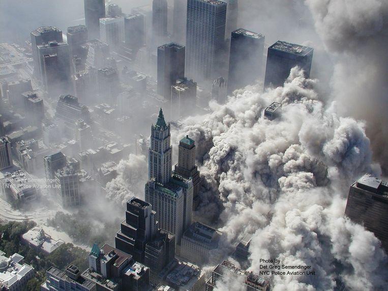 Foto gemaakt door het politiedepartement van New-York op 11 september 2001. Beeld AP