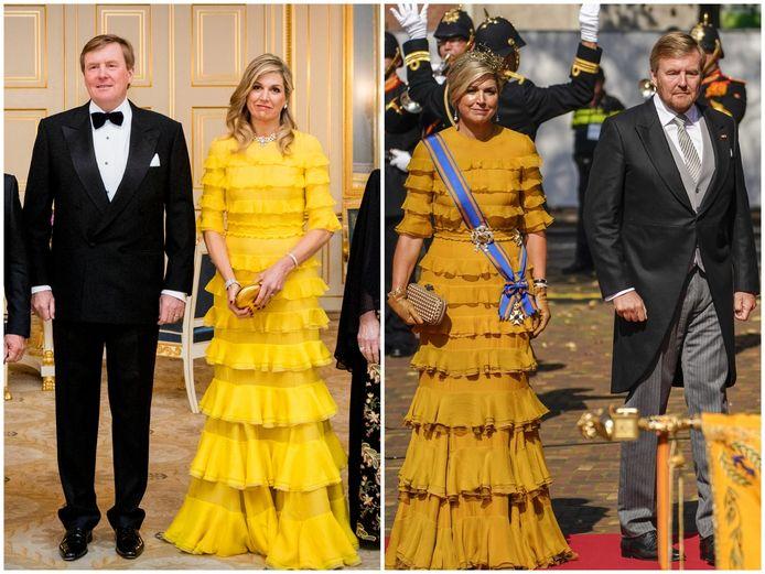 Máxima in de jurk van Claes Iversen