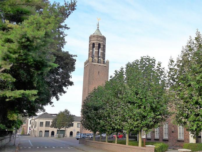 De Sint-Martinuskerk in Velddriel,  een van de zeven kerken op de pelgrimsroute die de Raad van Kerken heeft uitgestippeld op de zondag voor Sint-Maarten.
