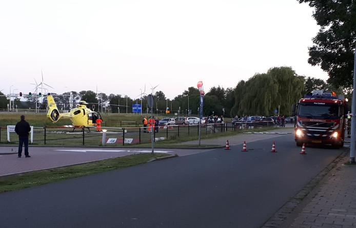 De traumaheli is geland bij het ziekenhuis in Terneuzen.