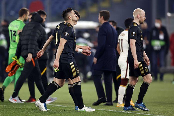 Dusan Tadic is teleurgesteld na de uitschakeling.