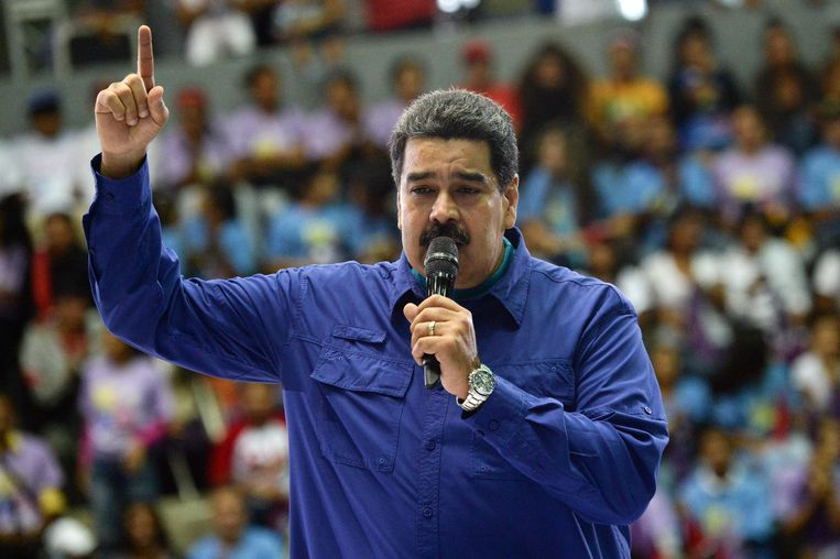 De Venezolaanse president Nicolas Maduro. Beeld AFP