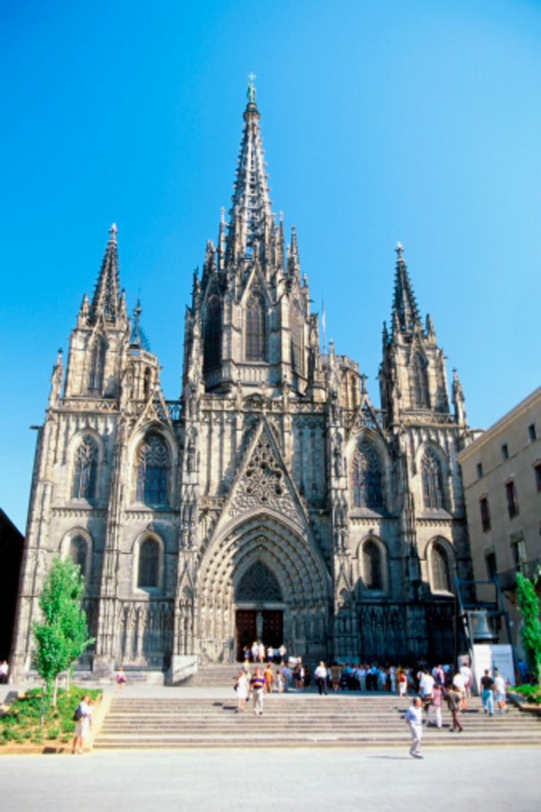 De prachtige gothische kathedraal Beeld UNKNOWN