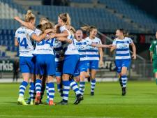 PEC Zwolle Vrouwen houdt eerste plaats in de eredivisie 'gewoon' vast, ook Feyenoord wordt verslagen