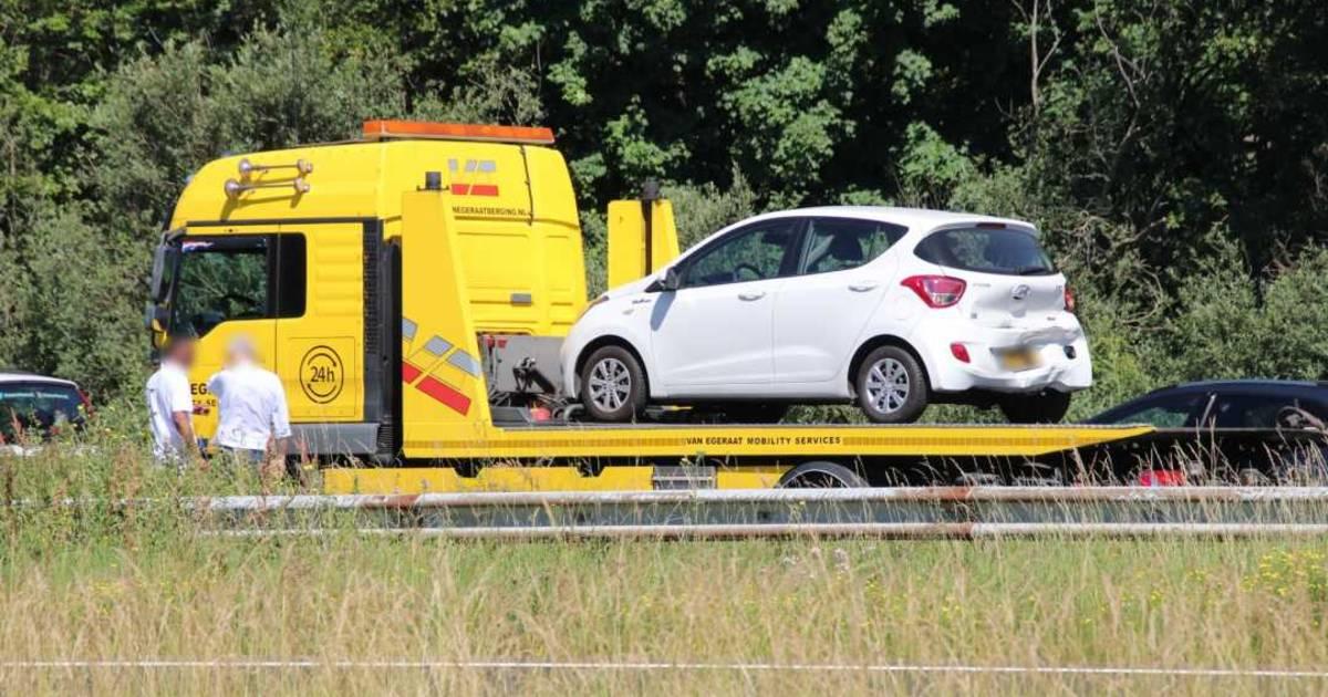 Kop-Staartbotsing op A58 bij Rilland: één gewonde.