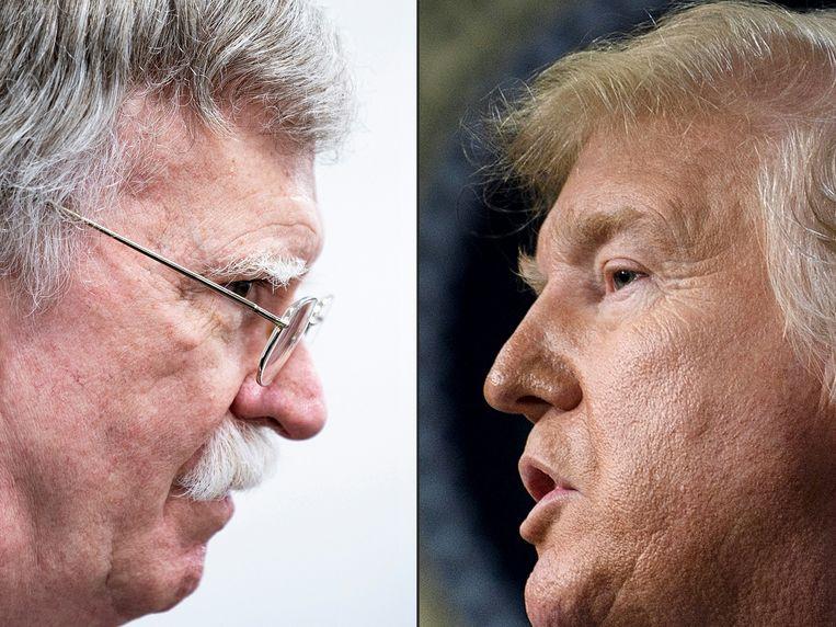 John Bolton en Donald Trump.