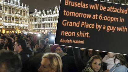 OCAD onderzoekt bizar bericht dat om 18 uur aanslag op Grote Markt in Brussel aankondigt