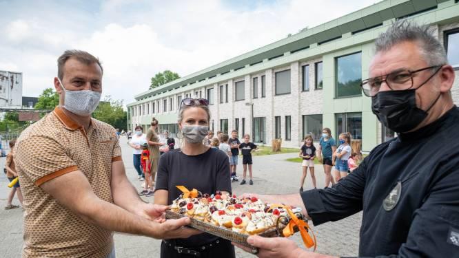 Einde van Mei Plasticvrij in Nijlen, leerlingen van twaalf scholen krijgen muffin als bedankje
