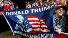 fotoreeks over Amerikanen trekken naar de stembus: dit was de campagne van Trump