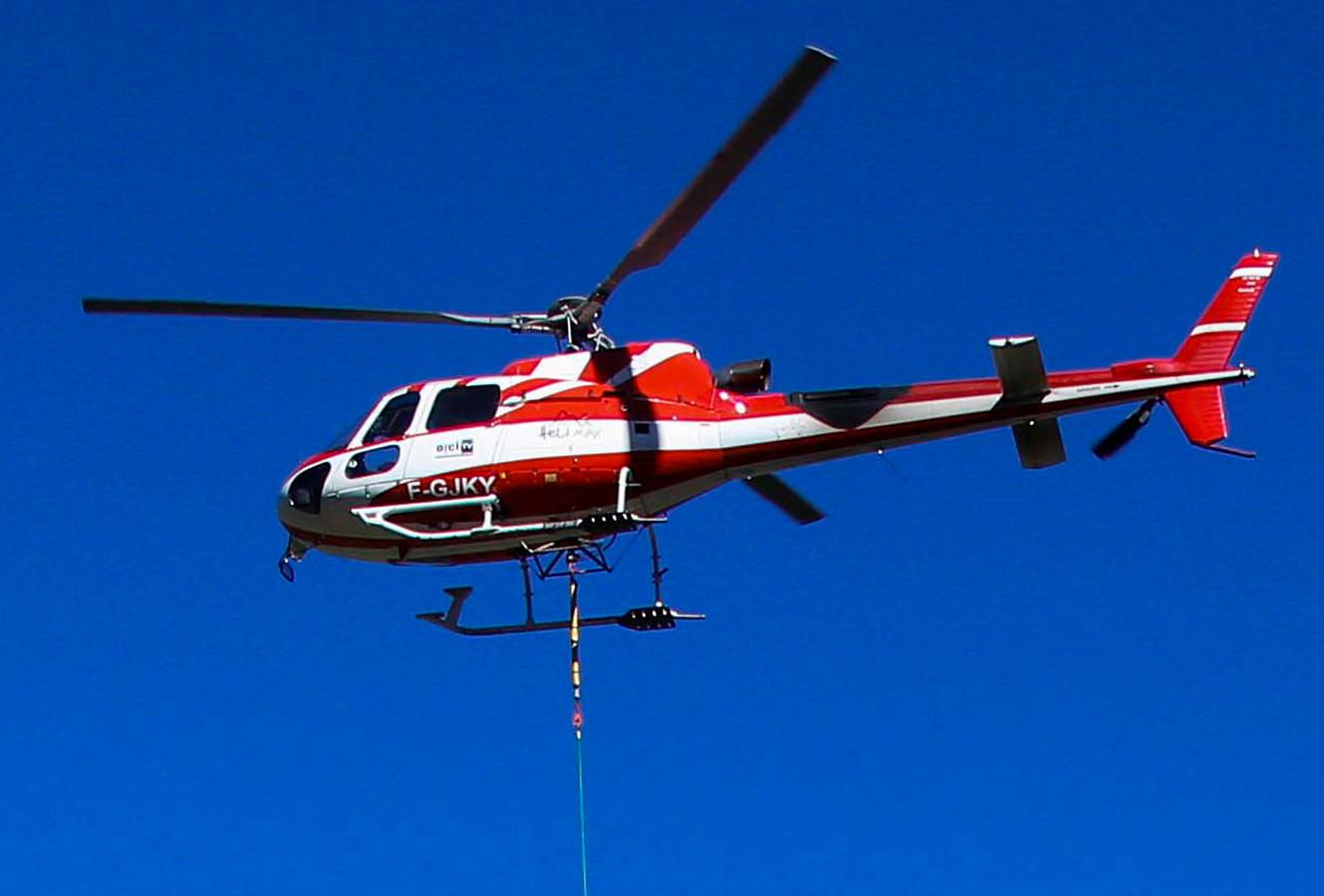 Foto ter illustratie. Een Franse reddingshelikopter.